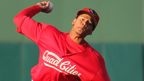 Carlos Martinez signed with the Cardinals as a non-drafted free agent last April.