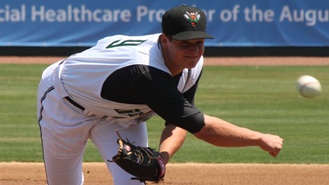 Kyle Crick has a South Atlantic League-leading 2.47 ERA this year.